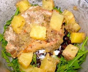 Recipe: Jerk pineapple pork chops with black beans, lime yogurt and ...